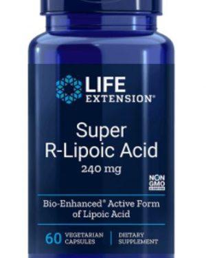super r lipoic acid 240 mg 60 veg capsules 1 300x375 - Super R-Lipon Zuur, 240 mg (60 Veggie Caps) - Life Extension