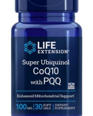 super ubiquinol coq10 100 mg 30 softgels 1 300x375 - Super Ubiquinol CoQ10 with BioPQQ 100 mg (30 Softgels) - Life Extension