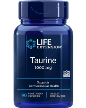 taurine 1000 mg le 1 300x375 - Taurine 1000 mg (90 vegetarian capsules) - Life Extension
