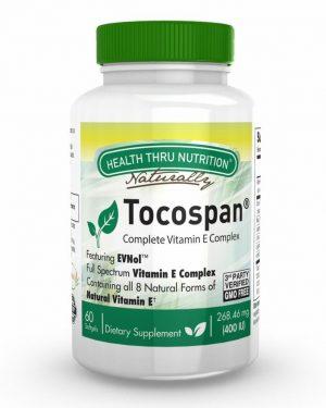 tocospan complete vitamin e complex 400iu 60 softgels non gmo 9 300x375 - Tocospan (w/ EVNol) Vitamin E Complex (60 Softgels) - Health Thru Nutrition