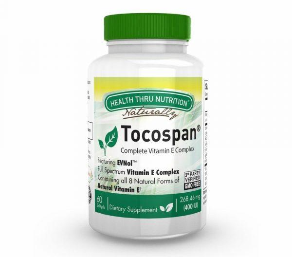 tocospan complete vitamin e complex 400iu 60 softgels non gmo 9 600x528 - Tocospan (w/ EVNol) Vitamin E Complex (60 Softgels) - Health Thru Nutrition