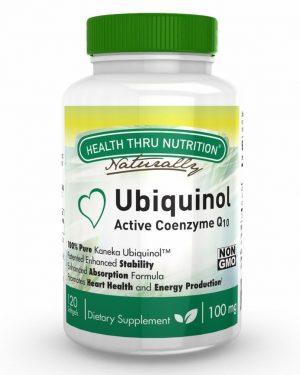 ubiquinol 100mg kaneka ubiquinol non gmo soy free 120 softgels 3 300x375 - Ubiquinol (Kaneka™) CoQ-10 100 mg (non-GMO) (120 Softgels) - Health Thru Nutrition