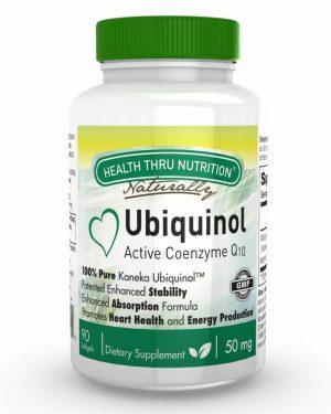 ubiquinol 50mg 90 softgels 47 300x375 - Ubiquinol (Kaneka™) CoQ-10 50 mg (non-GMO) (90 Softgels) - Health Thru Nutrition