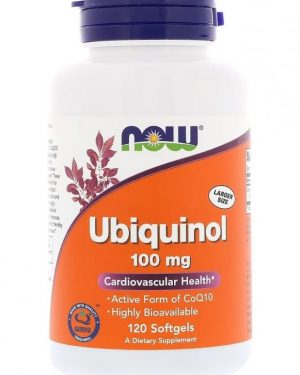 ubiquinol 100 mg 120 softgels   now foods1 300x375 - Ubiquinol 100 mg (120 softgels) - Now Foods