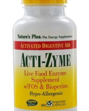 vacti zyme 180 vegetarian capsules   nature s plus1 300x375 - Acti-Zyme (180 Vegetarian Capsules) - Nature's Plus
