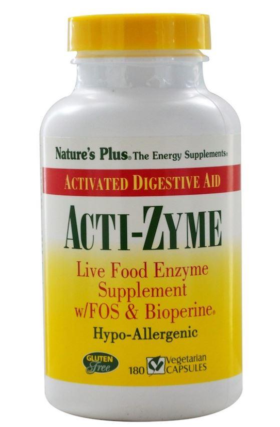 vacti zyme 180 vegetarian capsules   nature s plus1 - Acti-Zyme (180 Vegetarian Capsules) - Nature's Plus