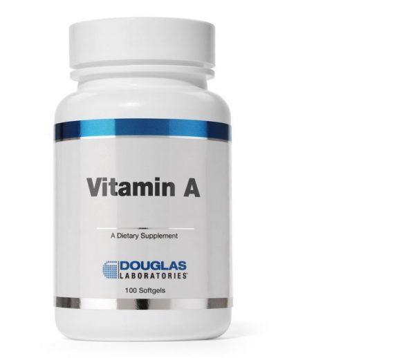 vitamin a 4000 ui av1 douglas laboratories 600x518 - Vitamine A 4000 IU - 100 vegetarische capsules - Douglas laboratories