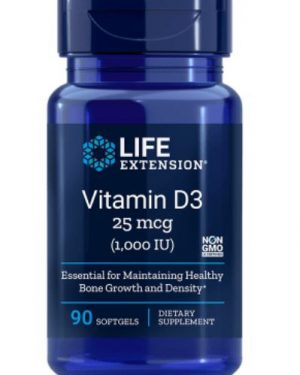 vitamin d3 1000 iu 90 softgels   life extension1 300x375 - Vitamine D3 1000 IU (90 Softgels) - Life Extension