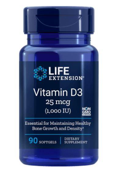 vitamin d3 1000 iu 90 softgels   life extension1 - Vitamine D3 1000 IU (90 Softgels) - Life Extension