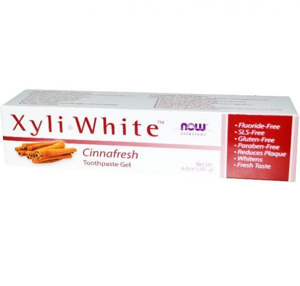 xyliwhite cinnafresh 1 600x573 - Xyliwhite Tandpasta Cinnafresh (181 gram) - Now Foods