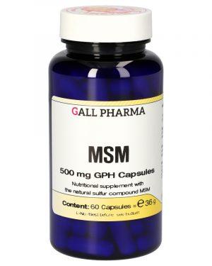 3011240 MSM 500 mg GPH Capsules 60 ST 1 300x375 - MSM 500 mg GPH (60 Capsules) - Gall Pharma GmbH