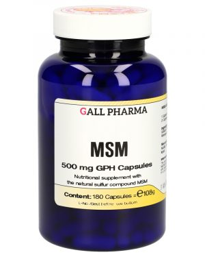 3011257 MSM 500 mg GPH Capsules 180 ST 1 300x375 - MSM 500 mg GPH Capsules (180 Capsules) - Gall Pharma GmbH