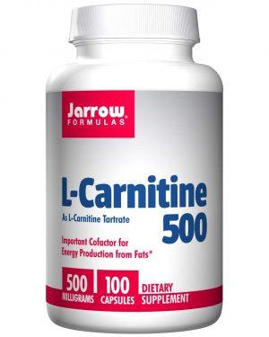 JRW 02002 8 1 300x375 - L-Carnitine 500, 500 mg (100 Capsules) - Jarrow Formulas