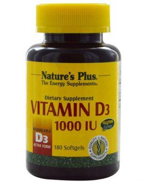 NAP 01042 3 300x375 - Vitamin D3, 1000 IU (180 Softgels) - Nature's Plus