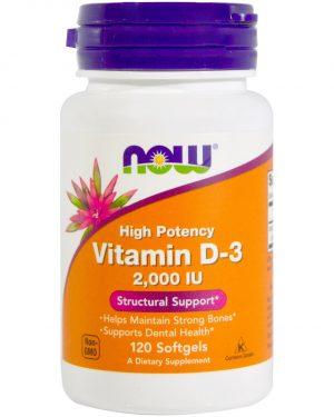NOW 00367 5 1 300x375 - Vitamin D3 2000 IU (120 Softgels) - Now Foods