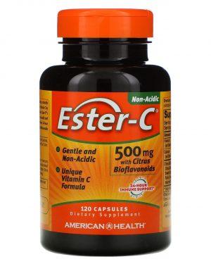americanhealth esterc 120 500 1 300x375 - Ester-C with Citrus Bioflavonoids 500 mg (120 Capsules) - American Health