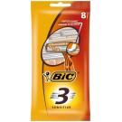 bic 3 sensitive pouch wegwerpscheermesjes 8 stuks - 3 Sensitive pouch wegwerpscheermesjes