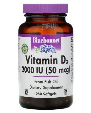 bluebonnet vitamind 2000 1 300x375 - Vitamin D3 2.000 IU (250 softgels) - Bluebonnet Nutrition