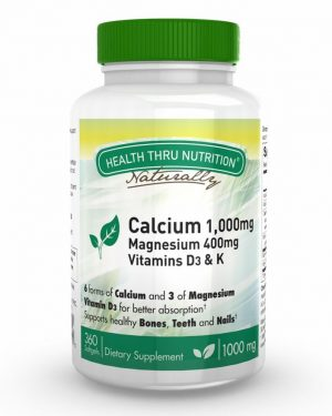 calcium 1 000mg with magnesium 400mg 360 softgels 51 300x375 - Calcium 1000 mg and Magnesium 400 mg with 100iu D3 & K (360 Softgels) - Health Thru Nutrition