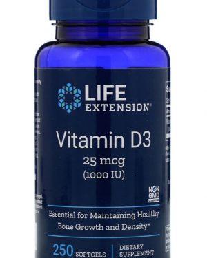 vitamin d3 1000 iu 90 softgels   life extension 1 300x375 - Vitamin D3 1000 IU (250 Softgels) - Life Extension